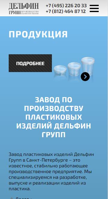 мобильная версия сайта http://delgroup.su