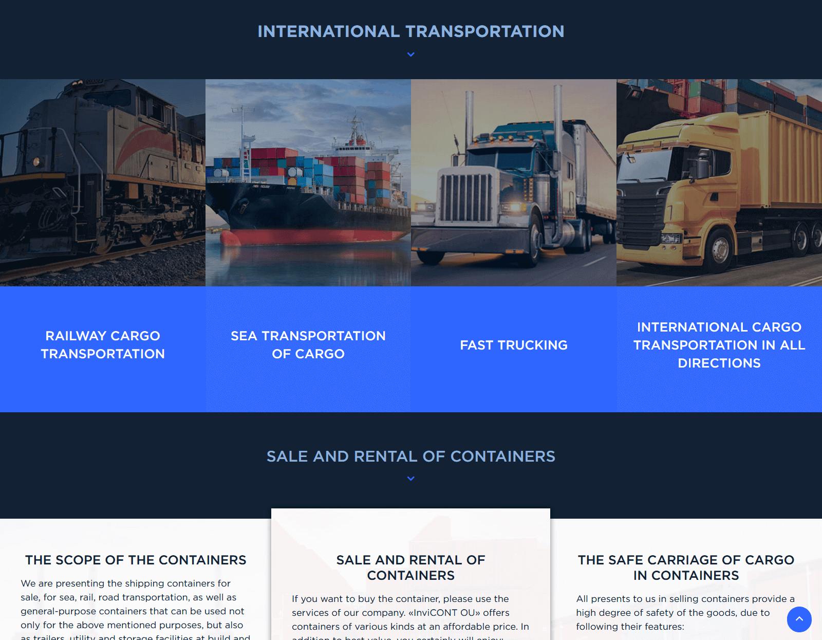 скриншот сайта http://invicont.ee/
